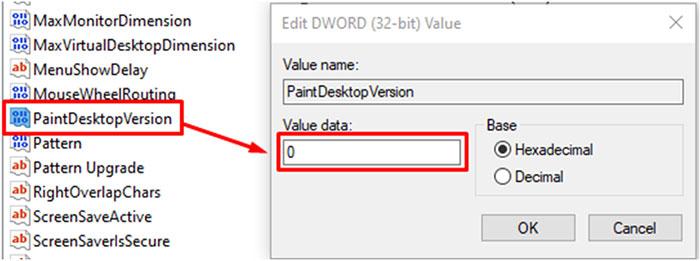 PaintDesktopVersion function